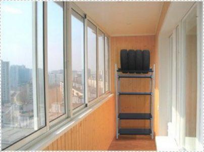 Хранение колес на балконе
