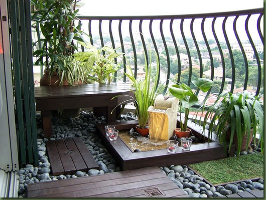 Обустройство французского балкона