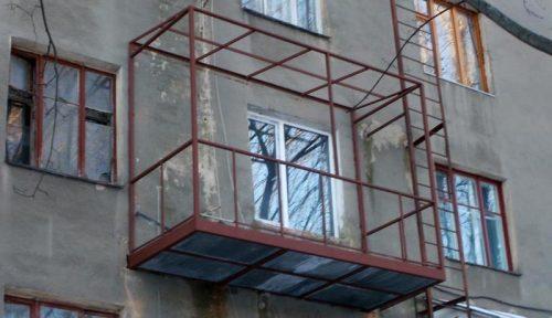 Укрепление балкона