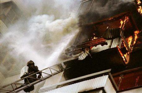 Пожар на балконе