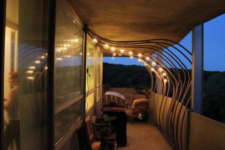 Освещение балкона