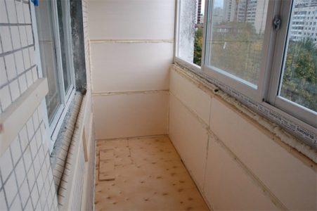 Подготовка балкона