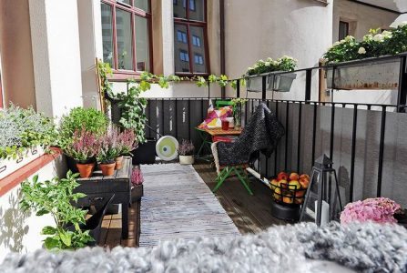 Декор скандинавского балкона