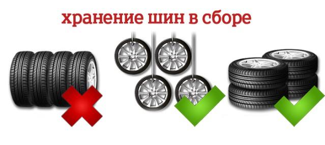 Хранение шин с дисками