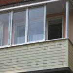 Балкон с сайдингом