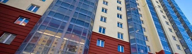 Балконы с витражным остеклением