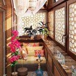 Балкон в восточном стиле