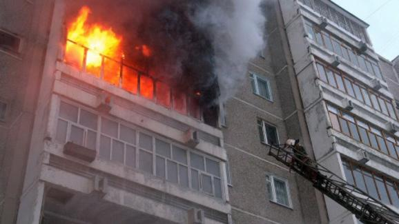 Пожар на лоджии
