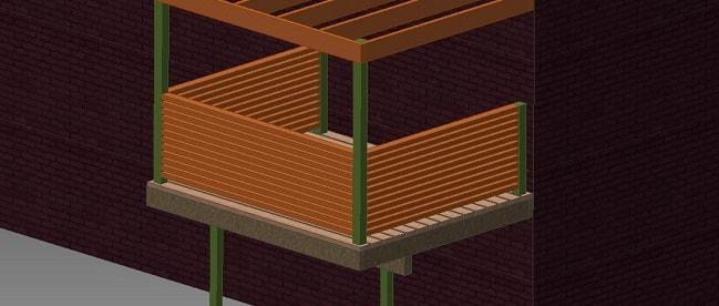 Самодельный балкон